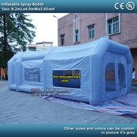 8.2mlx4.9mwx3mh надувные красильной с вентиляторы надувной автомобиль Краски стенд палатка Портативный Краска в баллоне распылителе booth