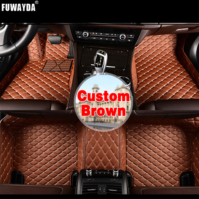 FUWAYDA Custom fit car floor mats made for Citroen new C4 2012-2016 carpet rus liners  Covers Leather Interior Good quality