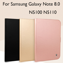 PU Leather+TPU Soft Case For Samsung Galaxy Note 8.0 N5100 N5110 Case Cover High Quality Tablet protector skin +gifts