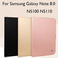 Puレザー+ tpuソフトcase� amsung galaxy note 8.0 n5100 n5110 caseカバー高品質タブレットプロテクタースキン+ギフ
