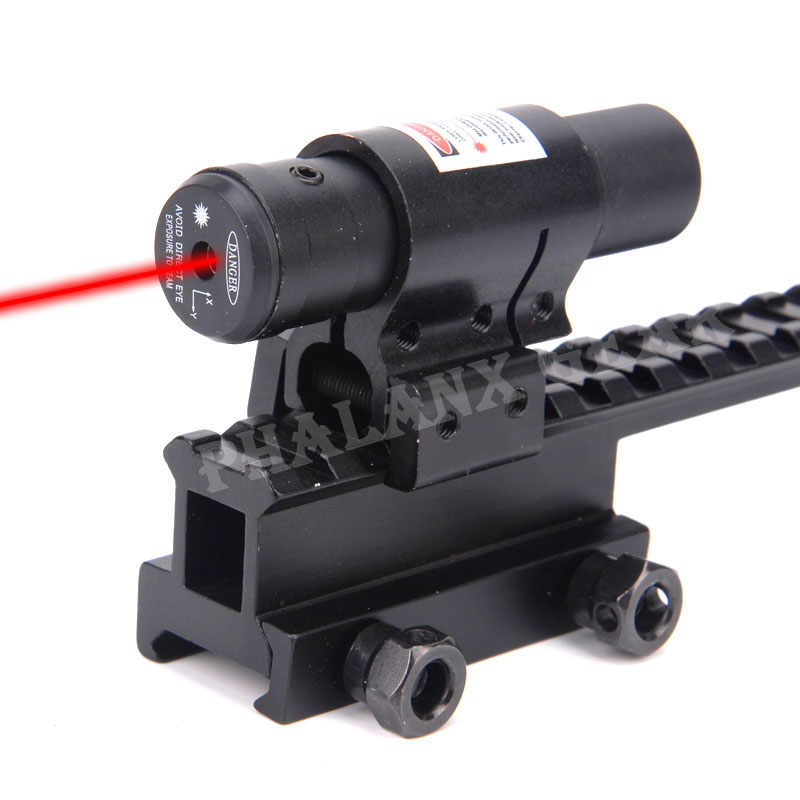 Hunting 5mw Mini Tactical Pistol Gun Red Dot Laser Sight Riflescope with Scope Mounts for Rifle Weaver 11mm/20mm Rails