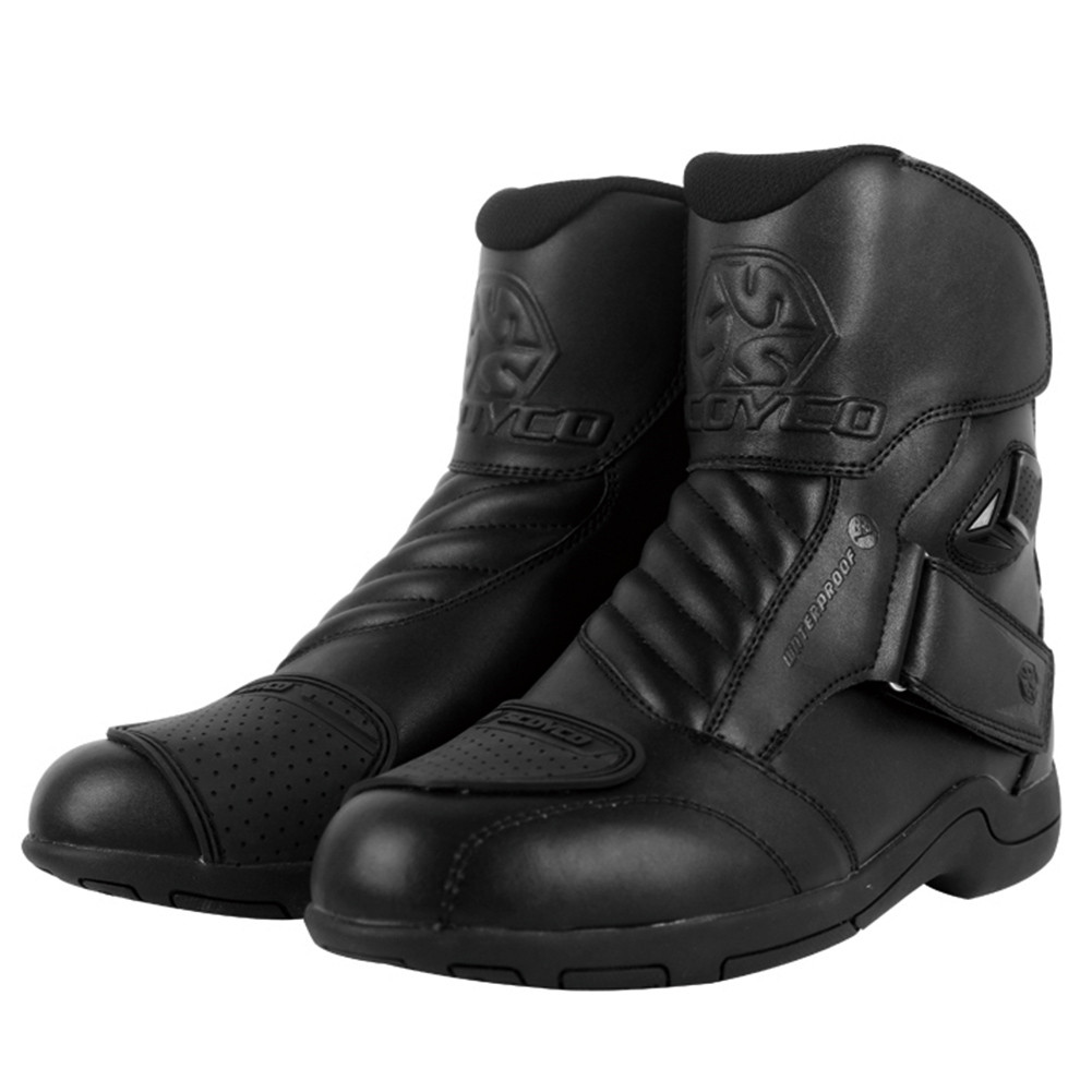 SCOYCO MBT011W Moto Racing Leather Motorcycle Waterproof Boots Shoes Motorbike Short Riding Sports Road SPEED Professional Botas riding tribe motorcycle waterproof boots pu leather rain botas racing professional speed racing botte motorcross motorbike boots