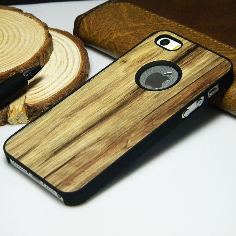 classical wood Vintage Retro Style PU leather sticker with hard case for iphone 5 5S 4 4S SE 6 6S 7 Plus phone case cover