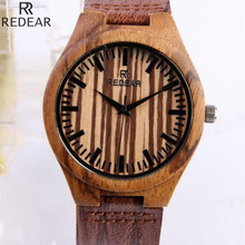 REDEAR1416, antique wood materials manufacturing men's watch, quartz watch, leisure leather strap watch, watch of wrist of 2017