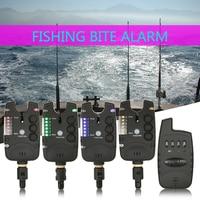 Lixada Wireless Fishing Bite Alarms Set Digital Fishing Alarm Kit LED Alarm Alert Bell Receiver Fishing Tackle with Zippered Box