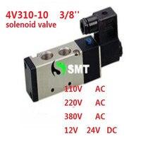 Verzending stopcontact 3/8 ''4v310-10 dc 24 v 120ma 3.0 w pneumatische solenoid filter air valve 5 poort 2 positie