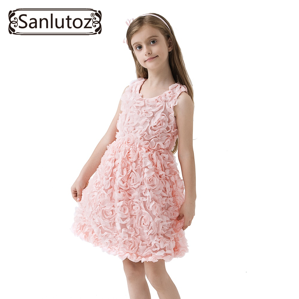 Sanlutoz Flower Girl Dress Summer Kids Clothes Brand Costume for Kids Party Holiday Toddler Princess Birthday 2017 Baby угловая шлифовальная машина harger wt ag05