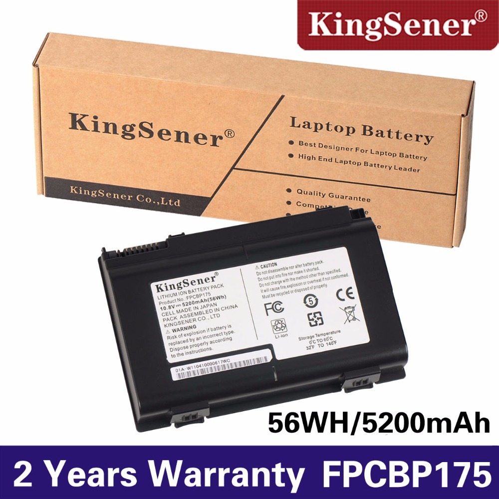 KingSener 10.8 v 56WH Batterie FPCBP175 pour Fujitsu LifeBook E780 AH550 AH530 A540 A550 A6210 A6220 A6230 E8410 E8420 FPCBP176