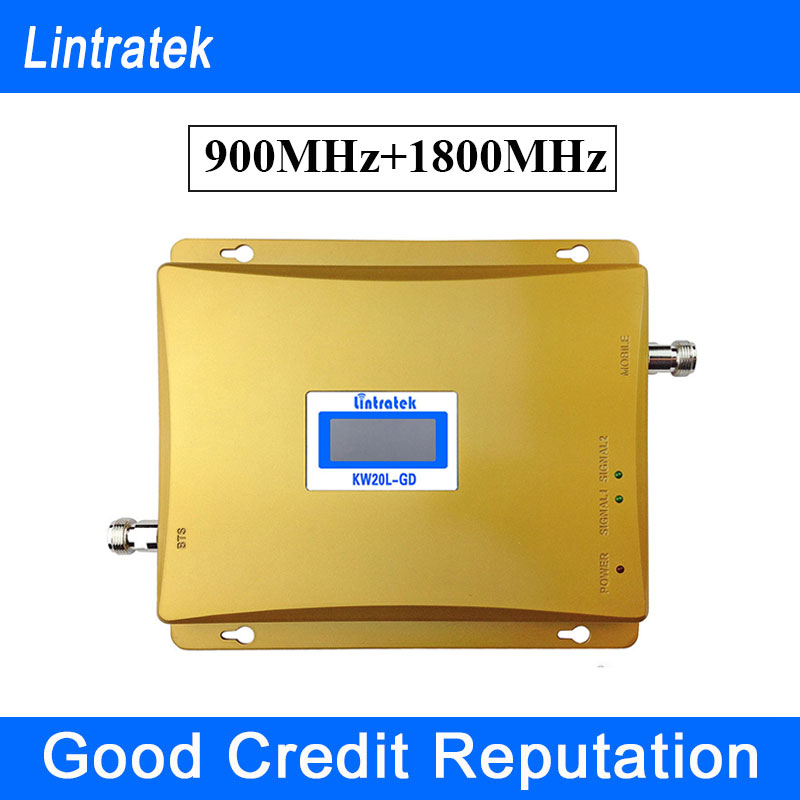 Lintratek GSM 900MHz 4G LTE Band 3 1800MHz Signal Repetidor LCD Mobile Phone GSM Repeater 900