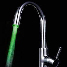 Температурный Датчик 7 Цвет Кухня Водопроводной Воды Кран Glow Душ Светодиодные
