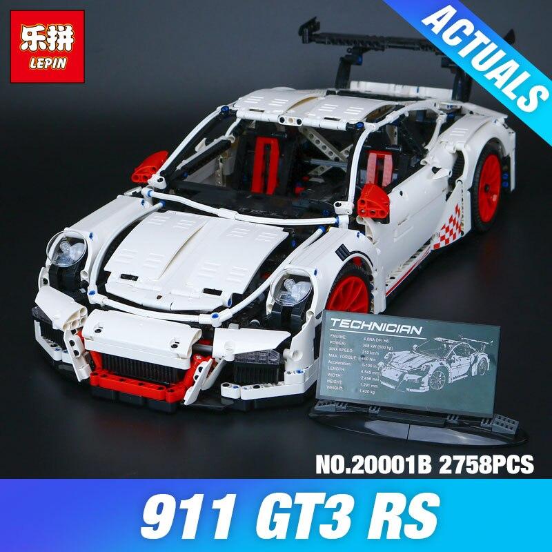 LEPIN 20001B 2758Pcs New Technic Series Classic 911 GT3 R3 Race Car 42056 font b Educational