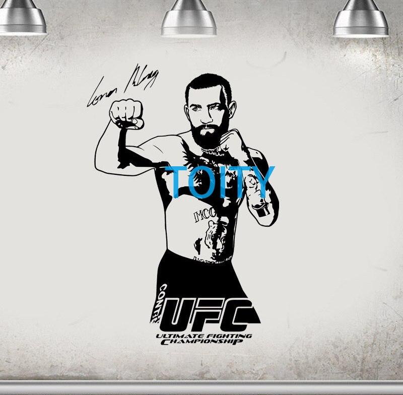 10 Dizayn Conor McGregor Divar Etiketli MMA Mübarizə Boks Vinil - Ev dekoru - Fotoqrafiya 1