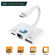 USB C to RJ45 Ethernet LAN Network Adapter,Type c 3 Digital Camera Reader with Charge Port for iPad Pro Pixel 3/3XL