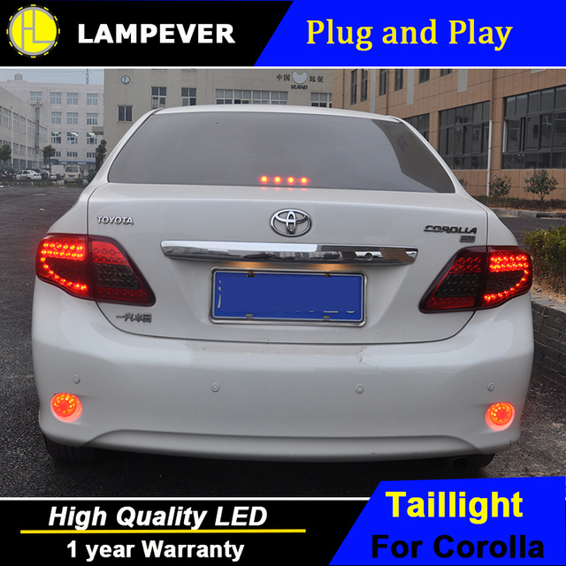 Lampever Styling For Toyota Corolla Tail Lights 2007 2010 Led Light Altis Rear Lamp Drl Brake Park Signal