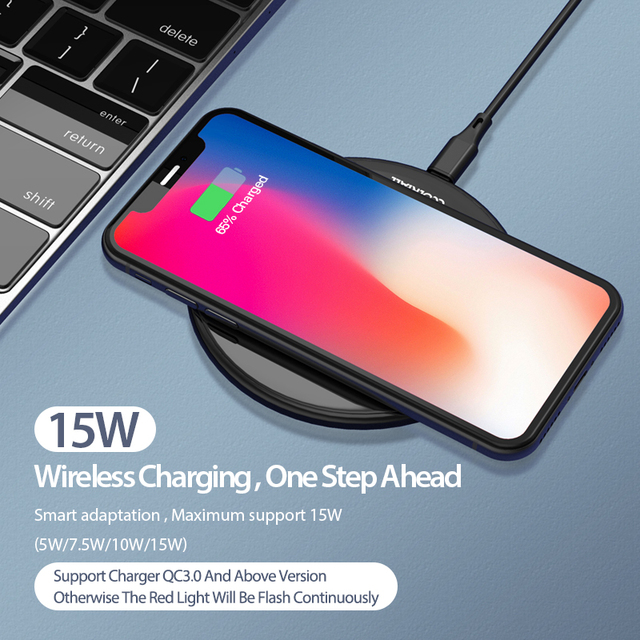Coolreall 15W Qi Wireless Charger for Samsung S9 S10 iPhone X XS MAX XR 8 Plus for Xiaomi 9 Huawei P30 pro 10W Wireless Charging 1