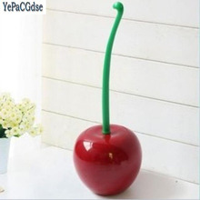 YEPACGDSE Cute Cherry Shaped Toilet Scrub Cleaning Brush Tool with Holder Plastic Bathroom