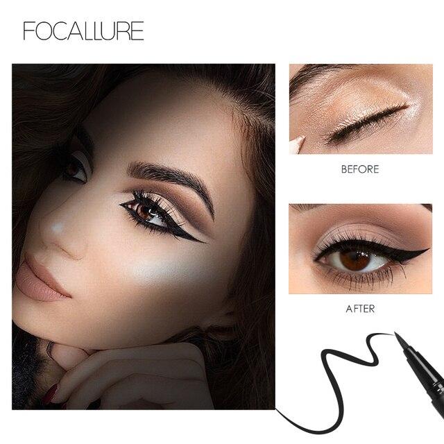 FOCALLURE Liquid Eyeliner waterproof long lasting Black Gel eye liner easy to wear  black eyeliner pen Women Eye Makeup 3