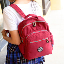 bag 2015 new Korean lightweight waterproof nylon backpack schoolbag travel ladies of leisure