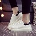 Envío Gratis 2016 Zapatos de Mujer de Primavera Nuevas Mujeres Blanco Aumentaron Los Zapatos Zapatillas de Deporte de fondo grueso 31 ZMX