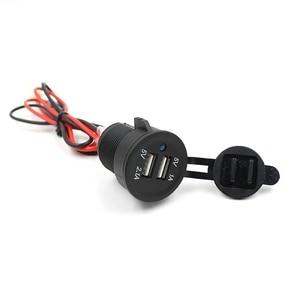 Image 4 - Автомобильное зарядное устройство с двумя USB разъемами для мотоцикла, автомобиля, квадроцикла, 5 В, 3,1 А