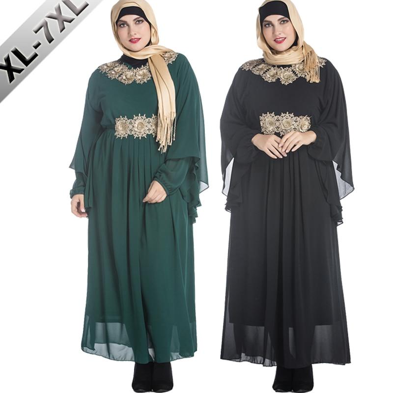 Vestidos 2019 Abaya dubaï arabe turquie islamique en mousseline de soie Hijab Robe musulmane femmes Robe Caftan marocaine Elbise Caftan vêtements
