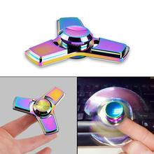 Colorful Fidget Tri Hand Spinning Finger Toy Stocking Stuffer for ADHD EDC Relieves Anxiety and Boredom High Speed Focus Toy