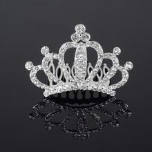 Wedding Bridal Crystal Tiara Crown Rhinestone Hair Combs Hair Jewelry