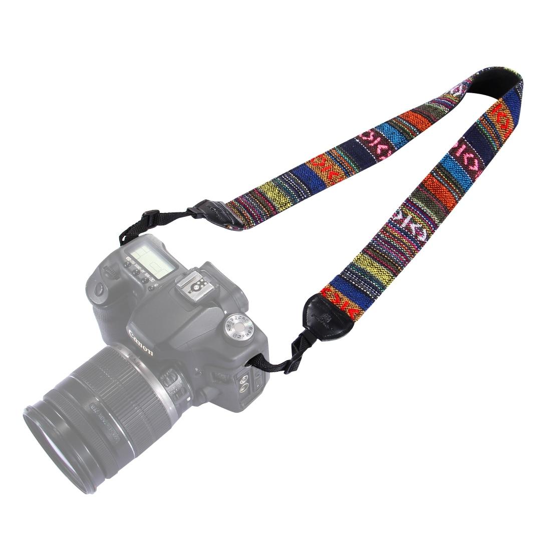 PULUZ PU6007B Retro Ethnic Style Multi-color Series Shoulder Neck Strap Camera Strap for SLR DSLR Camera Photography Accessories