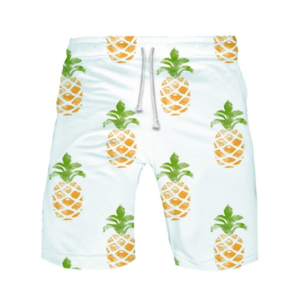 Shorts Swimwear Pants Beachwear Trunks Sport Strapped Quick-Dry Running Men's Big-Size