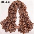 CRUOXIBB Новый Южный Корейской зимой теплый шарф женщин женский леопардовым принтом шарфы теплые платки супер долгое лето против