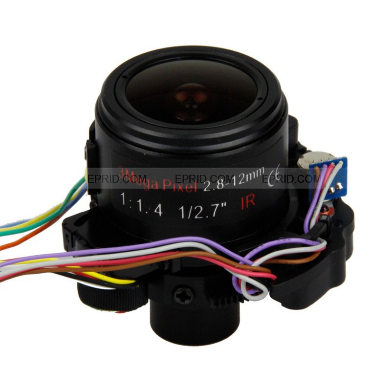 3 MP 1/2.7 F1.6 2.8 12mm Motorized Automatic Zoom Lens D14 Mount