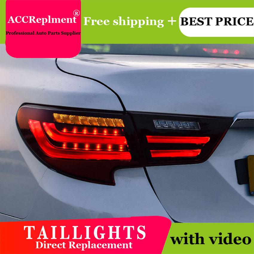 4PCS Car Styling for Toyota Reiz Taillights 2016-2017 for Reiz LED Tail Lamp+Turn Signal+Brake+Reverse LED light 4pcs car styling for bmw e60 taillights 2004 2010 for e60 led tail lamp turn signal brake reverse led light