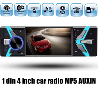 4 Inch 1 Din Car Radio Bluetooth USB SD MP4 MP5 Auto Player Support TF FM