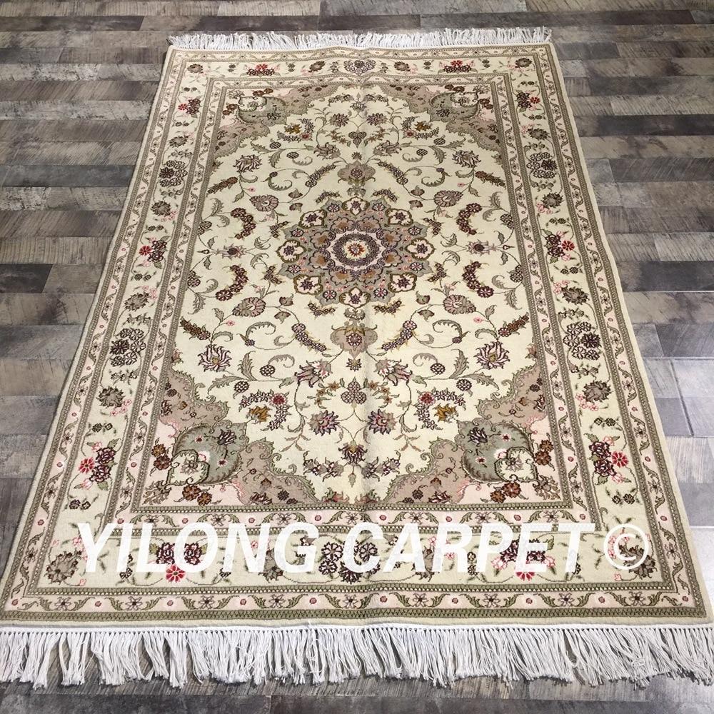 1x1 Oriental Hand Knotted Miniature Rugs Handmade Classic Silk Small Carpet Mats