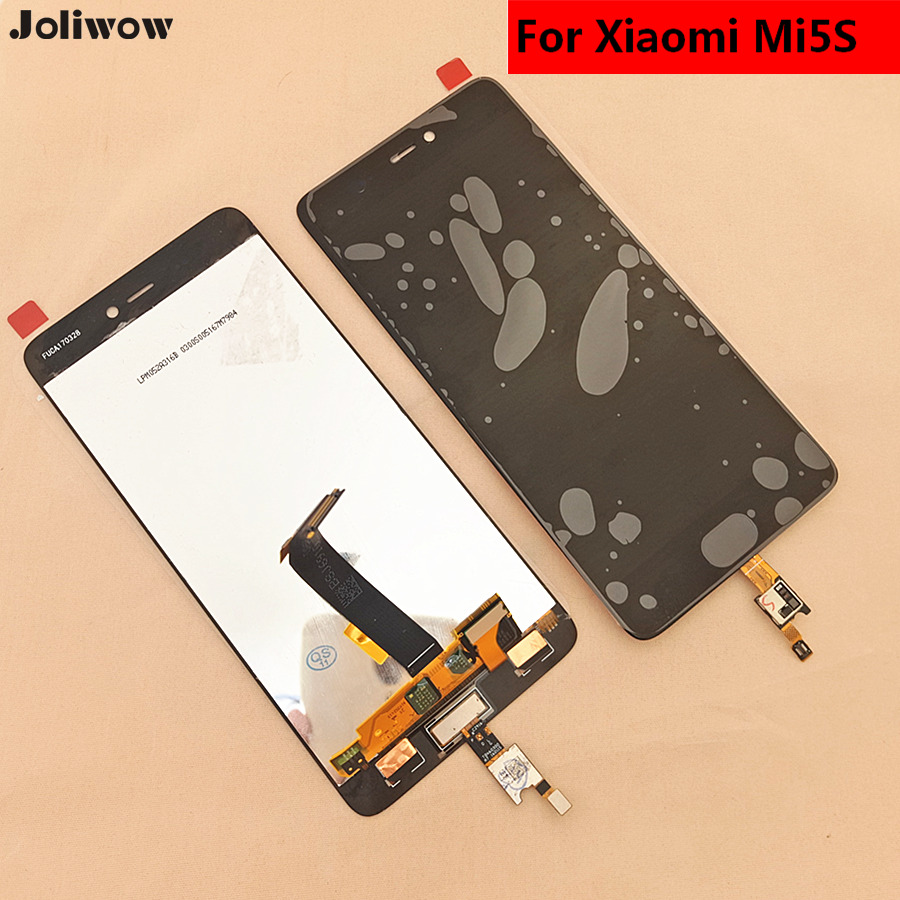 black with Fingerprint recognition function For Xiaomi Mi5s MI 5S black LCD Display Touch Screen Assembly