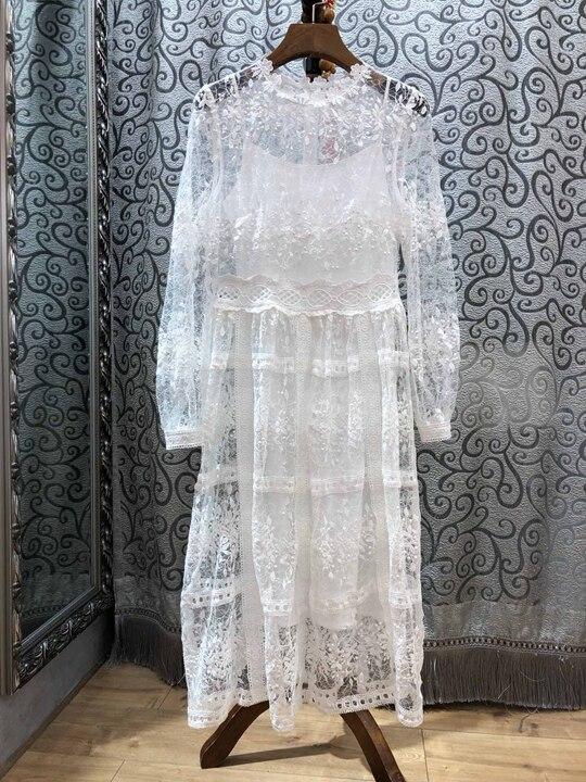 Solide Noir Travail Gâteau Couture Nouvelles Chargé Automne Couche Longues Dress1121 Femmes Couleur blanc Manches Et De Du 2018 Perspective D'hiver dxthCQsr