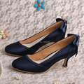 (20 Colors)Custom Midnight Navy Court Shoes Bridesmaid for Wedding Mid Heels Dropshipping