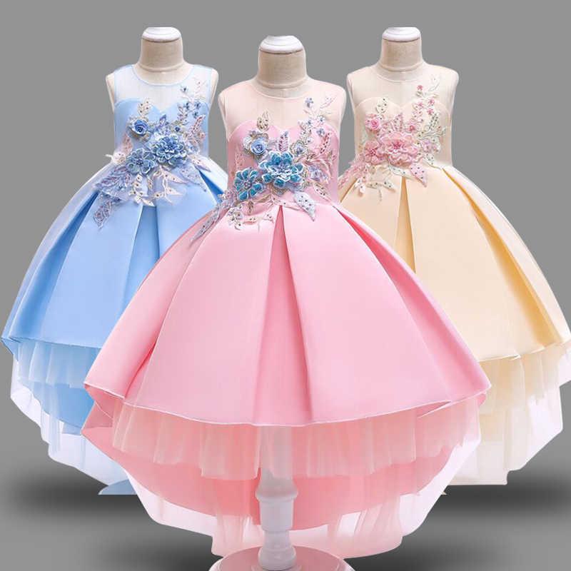 09ee61d0f628 Vestido de bebé niña niños elegante flor vestido de noche niño ropa de boda  bebé 2