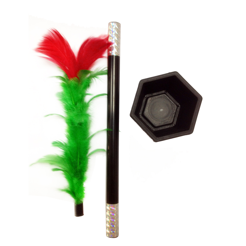 1 Set Magic Wand To Flower Magic Trick Easy Magic Tricks Toys For Adults Kids Show Prop Toys For Boys Fun For Children