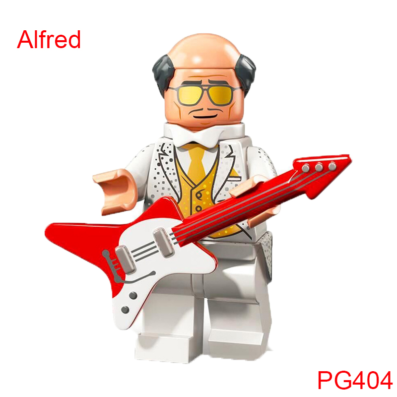Single Sale Building Blocks Toys Pg404 Alfred Play The Guitar Figure Super Heroes Star Wars Mini Bricks Toys For Children Pg8106 single sale super heroes thor star wars the force awakens bricks building blocks education learning toys for children xh 004