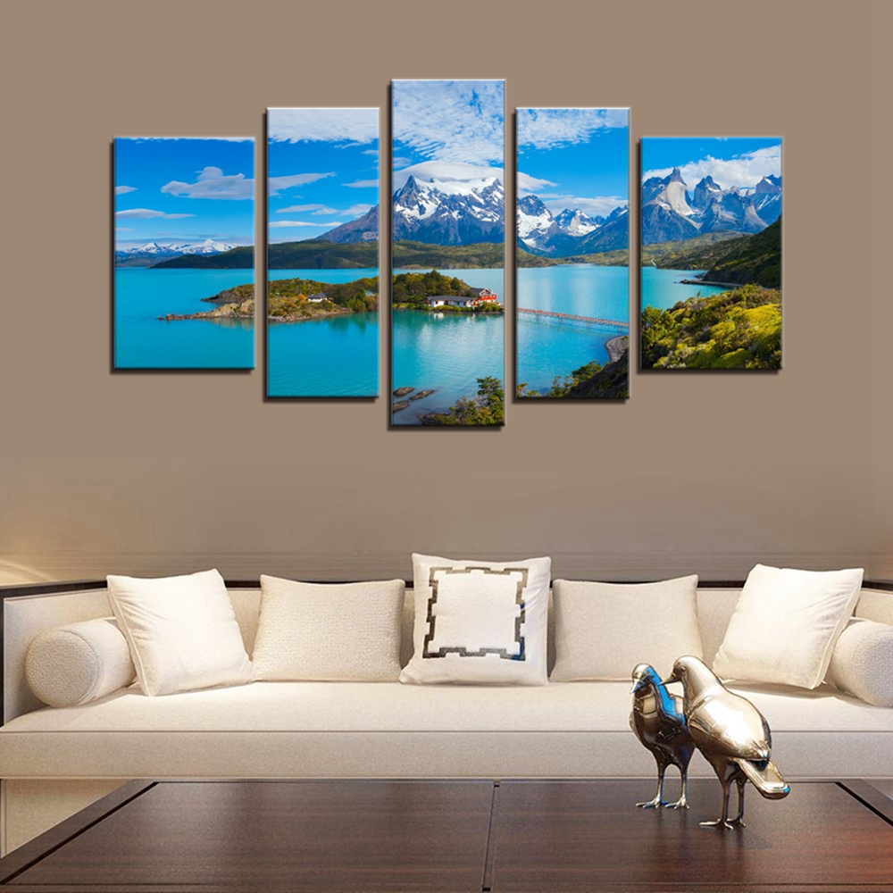 Landscape And Seascape Picture Wall Art Canvas Prints Torres Del Paine National Park Poster Artwork Painting Home Decor Dropship Painting Calligraphy Aliexpress
