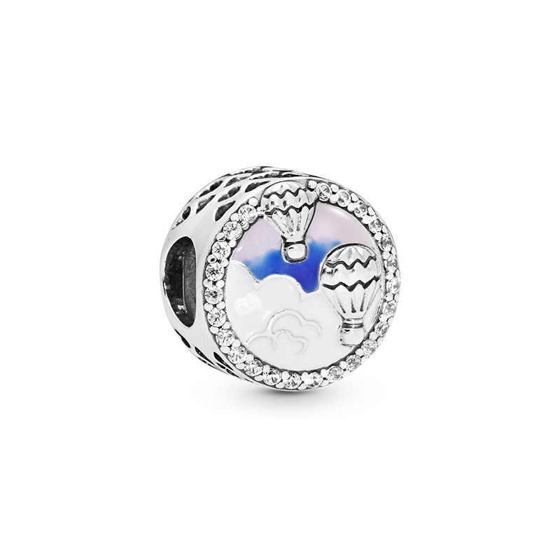 Homod asimétrica corazones de amor mariposas Dumbo Charm Beads se adapta a Pandora pulsera Collar para mujeres joyería de moda