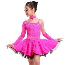Latin dance children's clothing new lace girl samba clothing ballroom children dance skirt Latin American children's dance dress