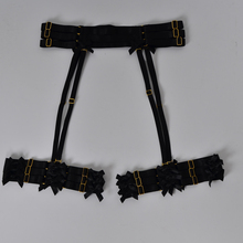Black women garter belt Bow garter Harajuku Gothic body harness wedding garters bridal bondage harness garters
