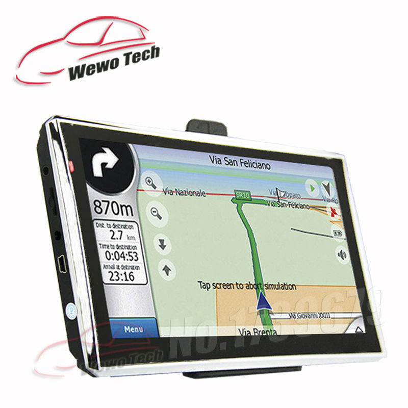 7 Inch HD Car Navigator With Bluetooth AV In 2015 Map Russia Belarus Spain Europe USA