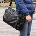 OGRAFF 2017 Homens da marca do desenhador Dos Homens saco do mensageiro sacos de moda sacos de homem de couro bolsa de ombro tamanho grande preto de alta qualidade vindima