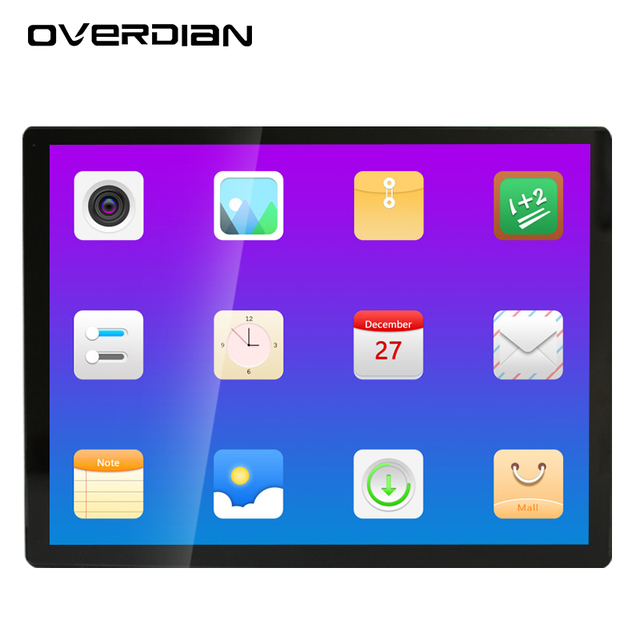 19 inch Android System 8G Squarescreen LCD Screen  Industrial Computer Built in WiFi Capacitive Touch Screen Industrial Computer
