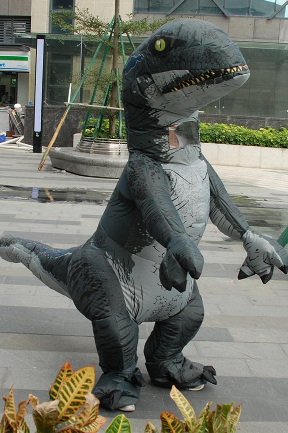 Inflatable Dinosaur Cosutme For Adult Jurrasic World Raptor Dinosaur Costume Halloween Cosplay Costumes