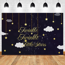 NeoBack Twinkle Little Stars Backdrop Gold Star Children Sweet Table Decoration Photography Backdrops