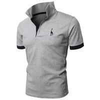 TJWLKJ рубашка поло мужская брендовая высококачественная повседневная вышитая рубашка поло с оленем Мужская рубашка поло с коротким рукавом